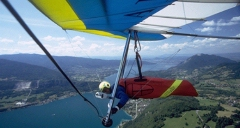 Hang gliding over Annecy